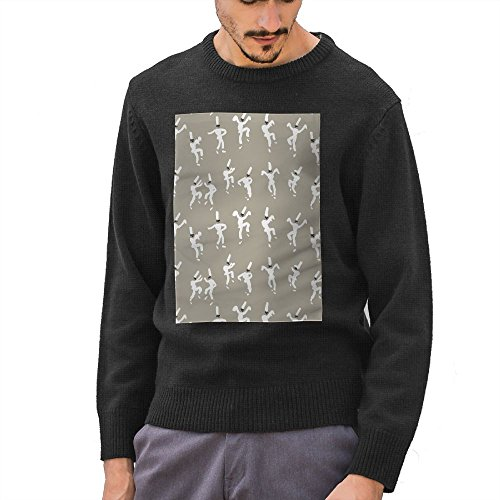 Huenem Dancing People Mens Round Neck Sweater Knitted Daily Pullover Sweatshirt With Funny Print
