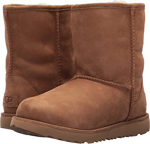 UGG Kids K Classic Short II WP Pull-on Boot, Chestnut, 5 M US Big Kid