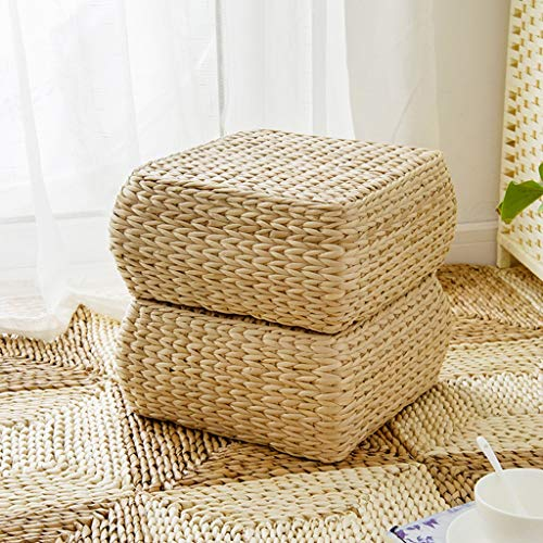 RXY-Wicker chair Japanese Rectangular Rattan Cushion Summer Home Ventilation Sofa Tatami Bedroom Living Room Cushion (Size : 30x30x15cm) by RXY-Wicker chair (Image #1)