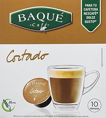 Cafés Baqué - 10 Capsulas Compatibles Dolce Gusto. Café Cortado ...