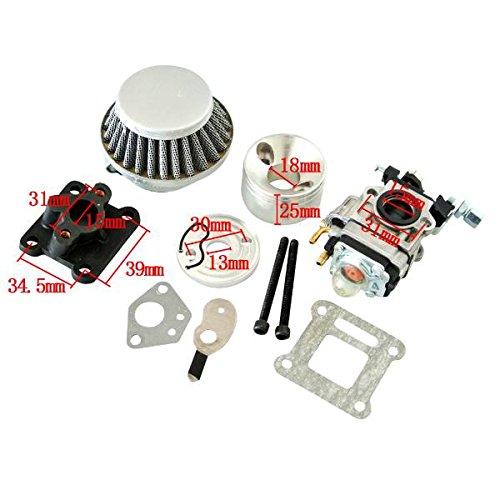 [해외]JRL 레이싱 기화기 공기 필터 키트 47cc 49cc 미니 ATV 먼지 포켓 바이크/JRL Racing Carburetor Air Filter Kit 47cc 49cc Mini ATV Dirt Pocket Bike