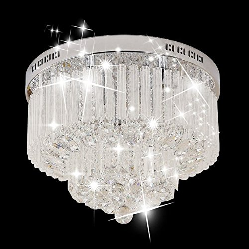 Glighone round crystal chandelier raindrop ceiling pendant light 25w glighone round crystal chandelier raindrop ceiling pendant light 25w g99 ceiling lamp for living aloadofball Image collections