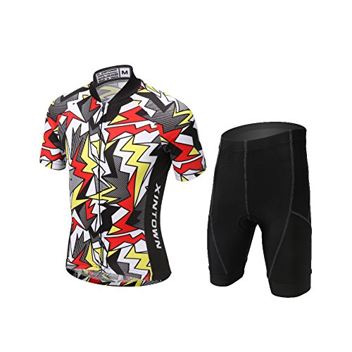 Kids Cycling Jersey Shorts Set - LSERVER 2017 New Design Boys Girls Summer Short Sleeve Cycling Jacket