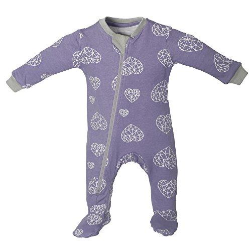 Fleece Zip Mittens (ZippyzJamz ZippyJamz Organic Baby Footed Sleeper Pajamas with Inseam Zipper for Quickier and Easier Diaper Changes ~ Heartbreaker (0-3 Months))