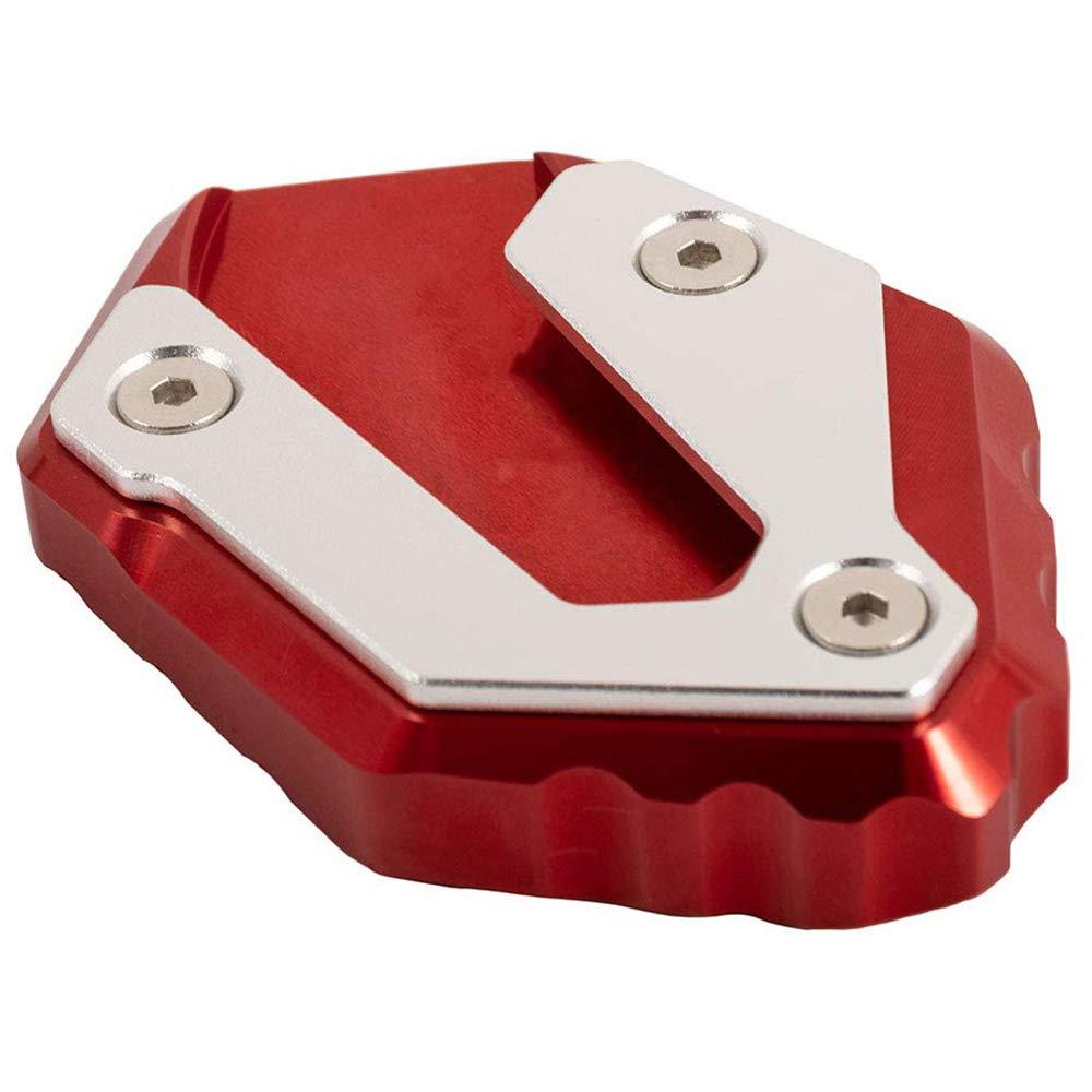 Shumo Almohadilla de Placa de Extensi/óN del Soporte del Soporte Lateral de la Motocicleta para Mt07 Mt-07 Xsr700 Xsr 700 Tracer 900 GT Accesorios de Motocicleta Rojo