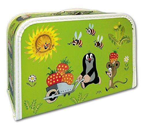 Der kleine Maulwurf Kinderkoffer Koffer hellgrün 35 cm Maulwurf erntet