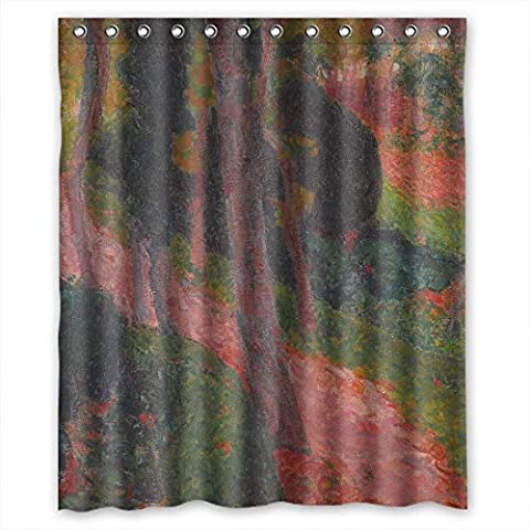 ZEEZON Christmas Shower Drape Width X Height / 60 X 72 Inches / W H 150 By 180 Cm(fabric) Nice Choice For Bf Teens Boys Mother Father. With Hooks Roderic O Conor - L Approche De Lezaven Pont - - Fixed Yoke Kit
