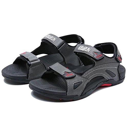 Jiawa Mens Sandales Été Plage Ouverte Chaussures À Bout Ouvert Noir