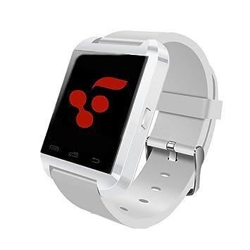 Berri Bluetooth inteligente reloj teléfono gsm podómetro Fitness Tracker (blanco)
