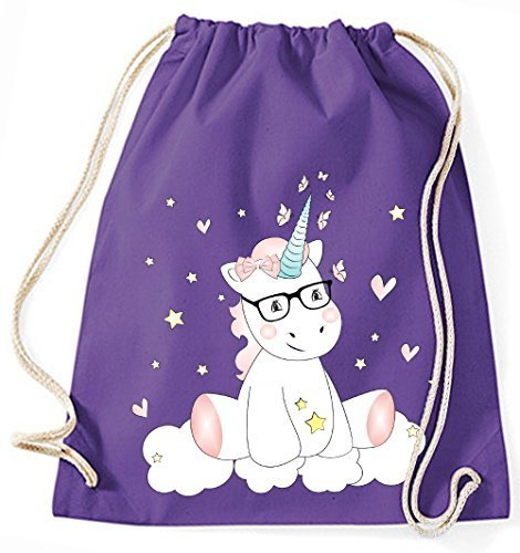 Purple Cm Lilac Purple Lilac X Cutie Zwergenland Bag Unicorn Mein 12l Glasses With 37 Jute 46 wqz6pvg