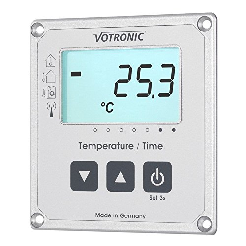 votronic 1253 LCD Thermomè tre/affichage heure s