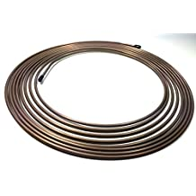 "25 Ft. Roll / Coil of 3/16"" Copper Nickel Brake Line Tubing"