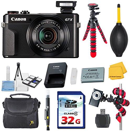 Canon PowerShot G7 X Mark II  Video Camera Bundle with Comma