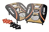 Triumph 3-Hole Foldable Outdoor Bag Toss Game Includes Six Durable Square Bean Bags