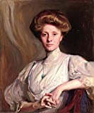 Miss Faith Moore, Seated Half Length by Philip Alexius De Laszlo 28'' x 24'' Oil on Canvas Art Reproduction Painting