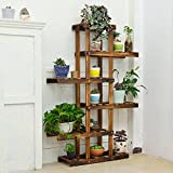 Balcony wooden living room flowerpot rack hundred step style flower racks-B