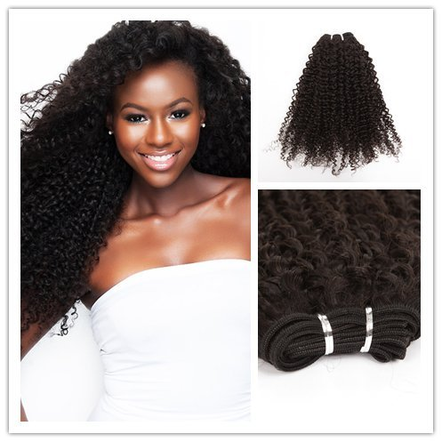 Wigsroyal Brazilian Virgin Jerri Curl Human Hair 20 Inch,Natural Color,4Oz/Bundle, 2 Bundles(20