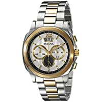 Bulova Men's 98B232 Classic Analog Display Japanese Quartz Two Tone Watch