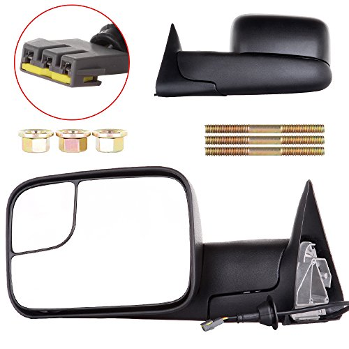3500 Truck Power Folding Mirror (ECCPP Towing Mirrors For 1994-1997 Dodge Ram 1500 2500 3500 Truck Power Adjusted Manual Folding Pair Mirrors)