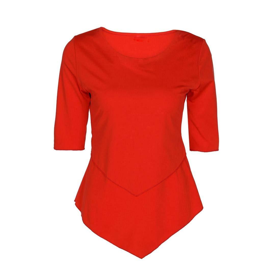 Damen Tops Bluse Langarm SUNNSEAN Frauen Langarmshirts Unregelmäßig T-Shirt Bluse Oberteile Hemd Sweatshirt Lässige Streetwear Lose Pullover Tops Tuniken