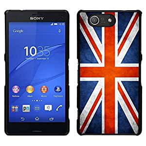 // PHONE CASE GIFT // Duro Estuche protector PC Cáscara Plástico Carcasa Funda Hard Protective Case for Sony Xperia Z3 Compact / National Flag Nation Country Great Britain UK /