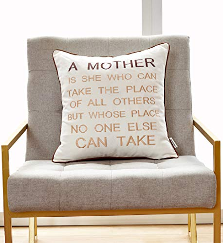 1 PCSanmetex Thanksgiving Day/Christmas Mothers Day/Mother in Law Gifts Embroidery Cotton Linen Pillow Case Decorative Cushion Cover 18