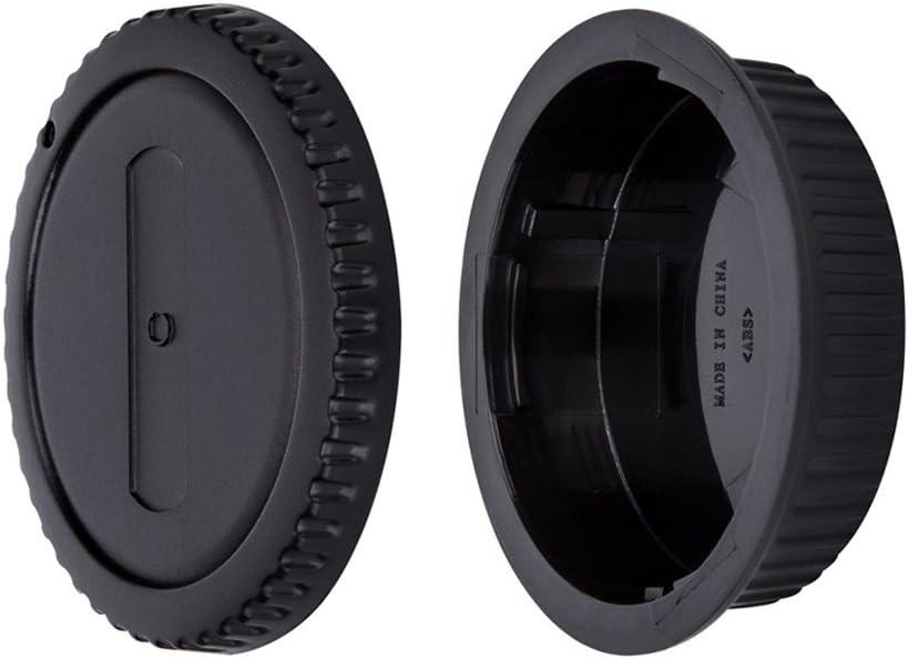 Cuerpo De Cámara Cubierta y tapa trasera de objetivo para Canon EOS M3 M5 M6 M100 M M50 EF-M Montaje