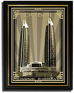 Photo of Damac Tower-Sepia With Gold Border F08-M (A2)