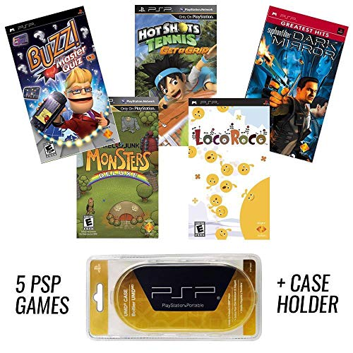 PSP MEGA 5 Game Bundle with UMD Case Holder for sale  Delivered anywhere in USA