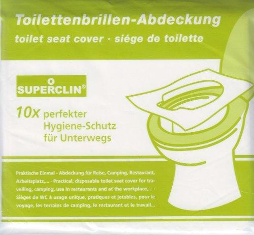 3 x 10er-Pack SUPERCLIN Toilettenbrillen-Abdeckung, WC - Brillenschutz, Hygieneauflagen, WC - Auflagen, BILA