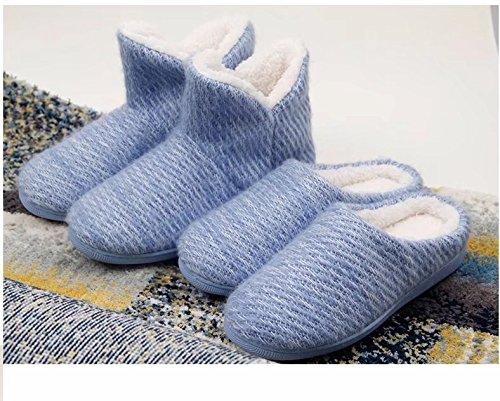 Elais J Womens Mohair Faux Fur Clog, Pantofole Memory Foam Interne Gey-pp