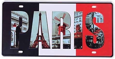 eureya París Auto de la matrícula coche etiqueta Home/Cafe Bar/Pub ...