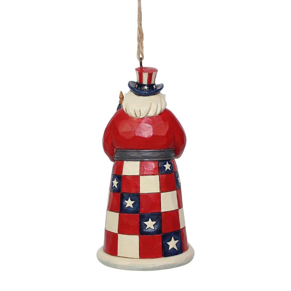 Enesco Jim Shore Heartwood Creek 6001508 American Santa Ornament