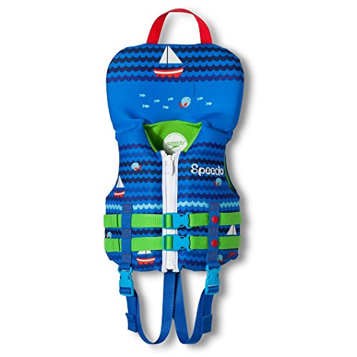 Speedo Infant Neoprene Personal Flotation Device up to 30 lbs. Life Jacket - Blue