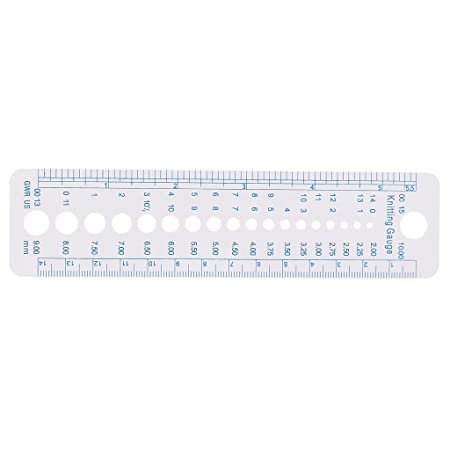 US UK Canada Size 5 Pieces Useful Sewing Knitting Needle Gauge Inch cm Ruler