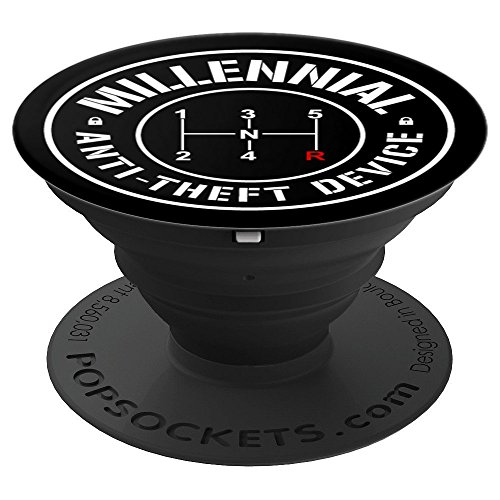 Millennial Stick Shift Pattern Manual Transmission Cars - PopSockets Grip and Stand for Phones and Tablets