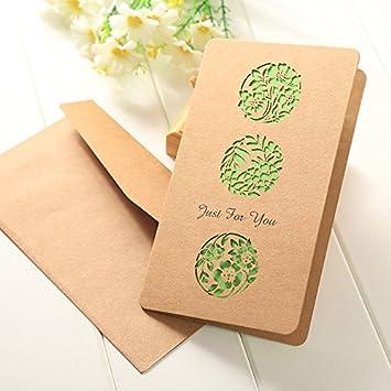 Rosepoem Kraftpapier Blumen Patterned Grußkarte Für Geschenk