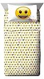 Emoji Sheet Set Full Emoji Logo White/Yellow 4 Piece Full Sheet Set (Official Emoji License Product)