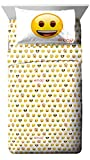 Emoji Full Bed Sheets Emoji Logo White/Yellow 4 Piece Full Sheet Set (Official Emoji License Product)