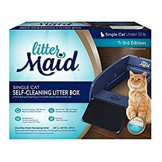 LitterMaid Single Cat Self-Cleaning Litter Box, Blue