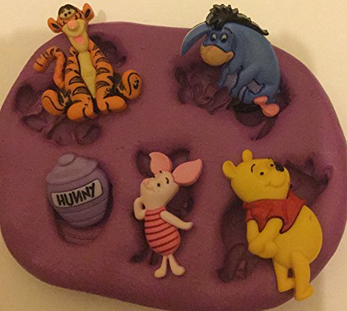 Disney Winnie the Pooh and friends silicone mould