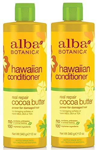 (Alba Botanica, Real Repair Cocoa Butter Hawaiian Conditioner, 12 Ounce Bottle (Pack of 2))