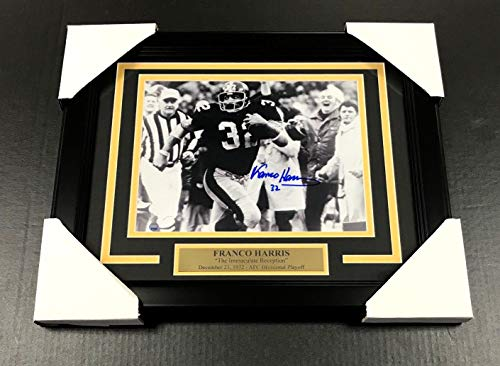 - FRANCO HARRIS THE IMMACULATE RECEPTION AUTOGRAPHED 8x10 PHOTO FRAMED STEINER COA