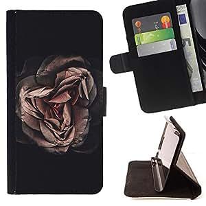 - rose vignette pink flower petal floral - - Prima caja de la PU billetera de cuero con ranuras para tarjetas, efectivo desmontable correa para l Funny HouseFOR HTC One M8