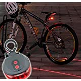 LW Bike Laser Tail Light: 2 Laser Beam 5 LED 7 Flashing Patterns