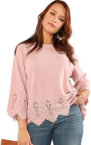 Romwe Womens Hollow Scallop Sleeve product image