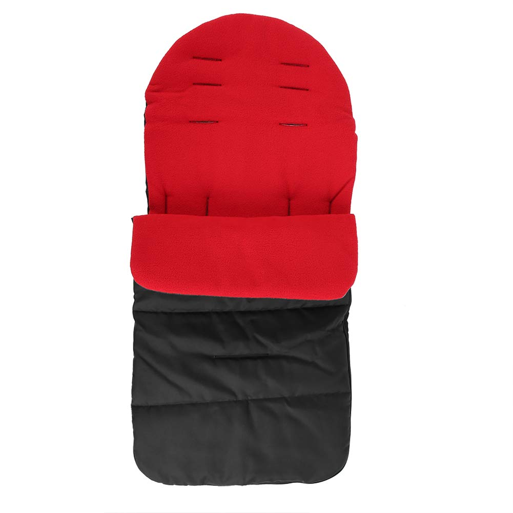Multifunctional Warm Infant Universal Stroller Footmuff Sack Thickening Baby Stroller Foot Muff Winter Autumn Outdoors(Red) Garosa