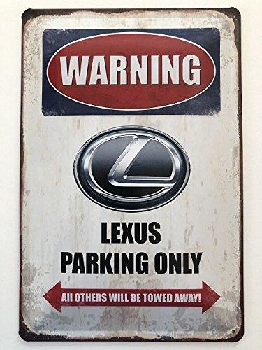 Deko 7 Tin Sign 30 x 20 cm Warning - Lexus Parking Only Deko7