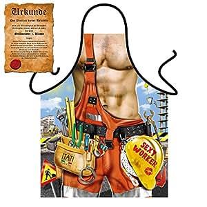 Mega Sexy cocina Delantal de cocina Delantal con Gratis Escrituras–Sexy Worker–Cooler Artículo de broma FUN Artículo FUN regalo Idea
