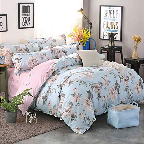 (SSHHJ Simple Bedding Set Duvet Cover with Pillowcases Twin Queen King Size Bedclothes E 180x220cm)